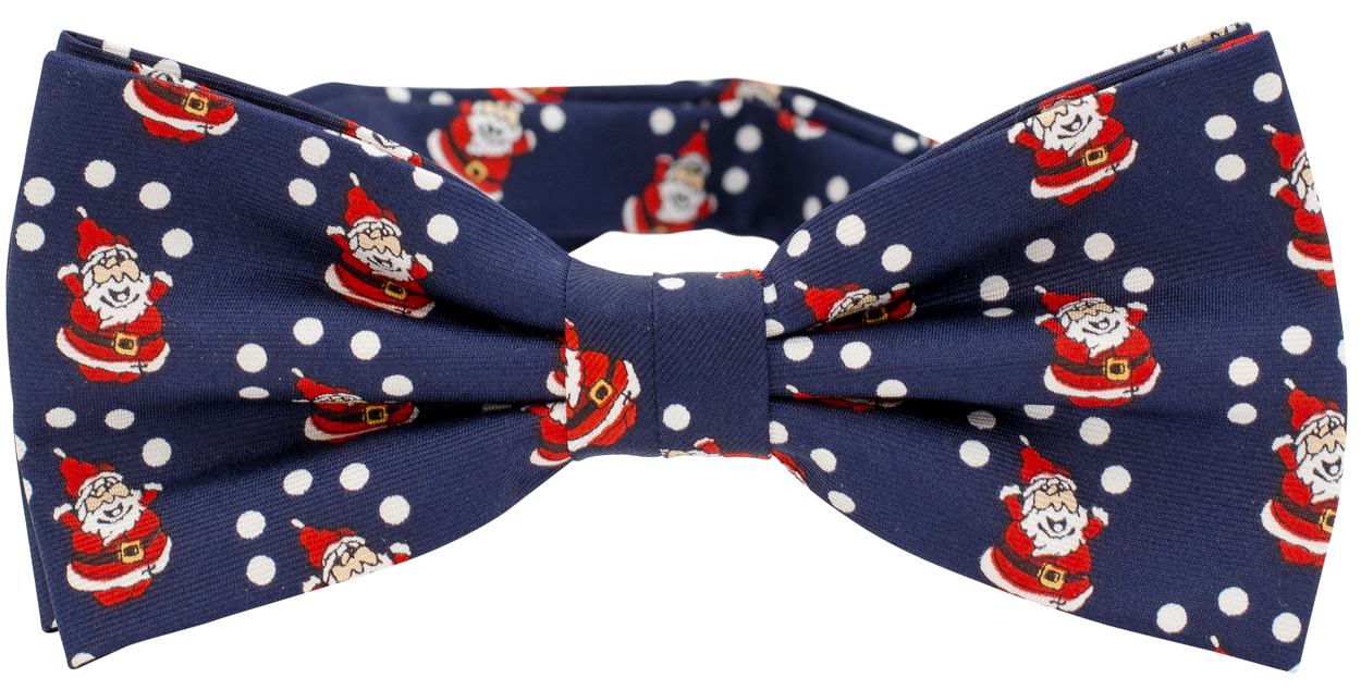 464ded89c407 Christmas Bow Tie Santa Claus - Navy - Shop online | Neckwearshop.co.uk
