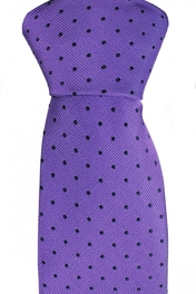 Slim Tie Dots Purple/Navy