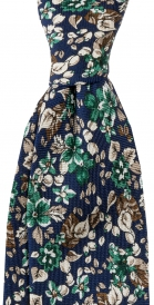 Slips Floral 8 cm | Navy Green