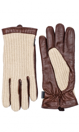 Milland Crochet Herrhandske - Tan/Chocolate