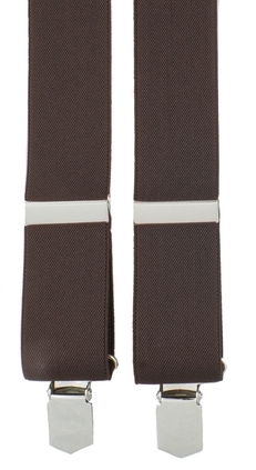 Dark brown extra long Suspenders