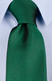Dark green italian silk tie