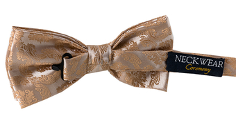 Damask Bow Tie Gold