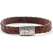 Leather Bracelet Akranes | Brown