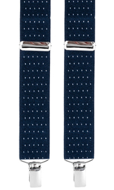 Skinny Dotted Suspenders 0,98'' | Navy