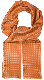 Microdot Silk Scarf | Rust Orange
