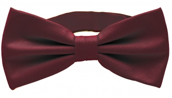 Burgundy Polyester Bow Tie